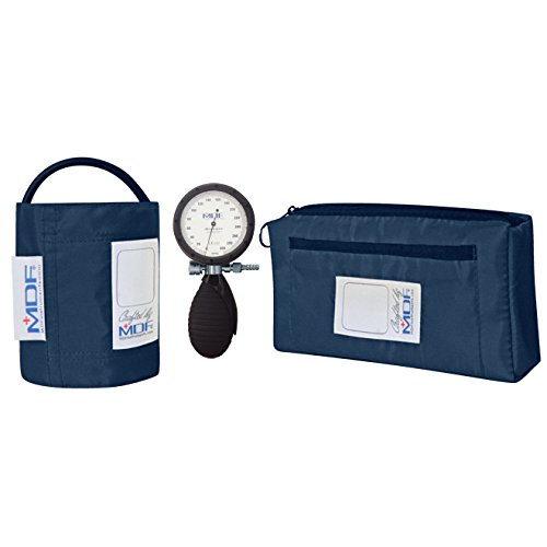 MDF® Bravata® Palm Aneroid Sphygmomanometer - Blood Pressure Monitor with Adult Sized Cuff Included - Navy Blue (MDF848XPD-04) by MDF Instruments