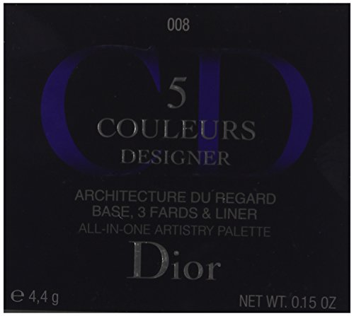 Christian Dior 5 Color Designer All in One Artistry Palette for Women, No. 008 Smoky Design, 0.15 Ounce by Dior (Image #3)