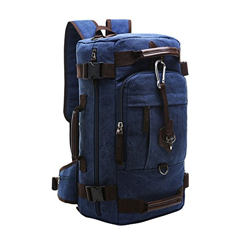 Waterproof School Bookbag Travel Hiking Backpack Dark Blue - 5