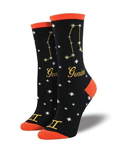 Socksmith Womens Birthday Horoscope Novelty Crew Socks, Gemini (Best Gift For Gemini Woman)