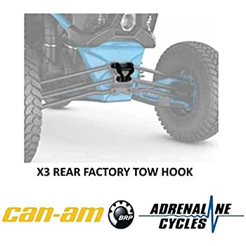 Can-Am New OEM UTV Rear Pull Plate Tow Recovery Hook Maverick X3 715004450