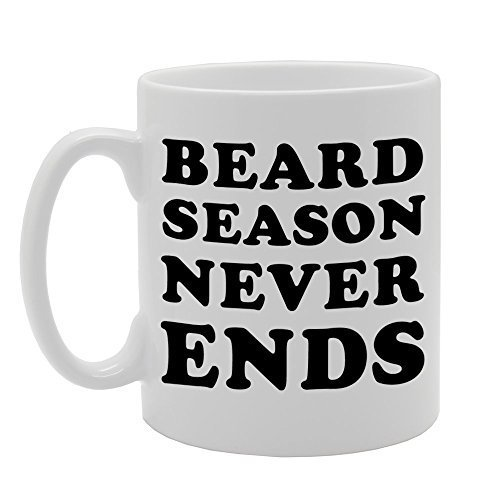 CCS 11oz BEARD SEASON NEVER ENDS Novelty Gift Ceramic Tea Coffee Mug