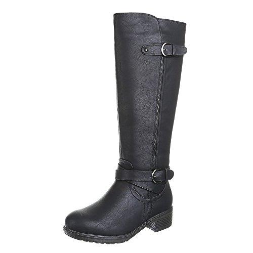 36 Noires Bottes Motard Style p Femme zddXqB