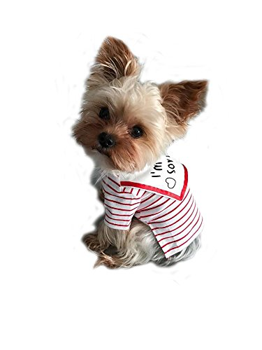 Dog Shirts Pet Summer Clothes Puppy Clothing Tee for Small Dogs Stripe Red XL