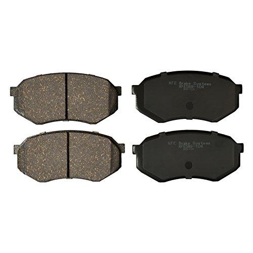KFE Ultra Quiet Advanced KFE589-104 Premium Ceramic FRONT Brake Pad Set