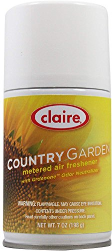 - Claire C-118 7 Oz. Country Garden Metered Air Freshener Aerosol Can (Case of 12)