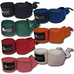 "180"" Elastic Cotton MMA Handwraps (Pair) from Meister MMA"