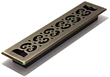 Decor Grates SPH214-A Floor Register, 2-Inch by 14-Inch, Antique Brass