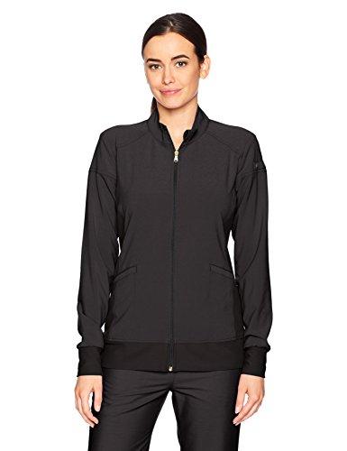 Cherokee Women's Iflex Zip Front Warm-up Jacket, Black, XL (Jacket Warm Up Womens)