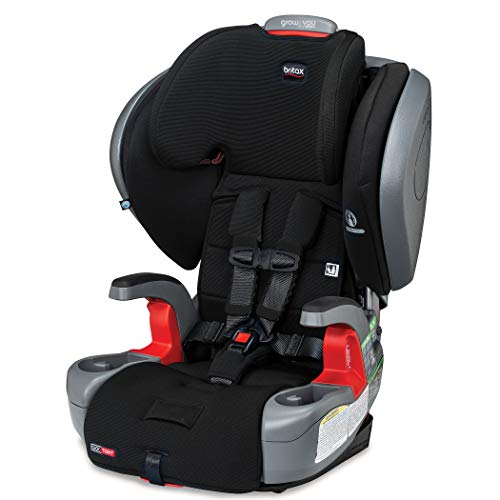 41LKfNuAWjL - Britax Grow With You ClickTight Plus Harness-2-Booster Car Seat | 3 Layer Impact Protection - 25 To 120 Pounds, Jet Safewash Fabric [New Version Of Pinnacle]