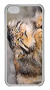 iPhone 5C Case, Personalized Custom Wild Cat for iPhone 5C PC Clear Case