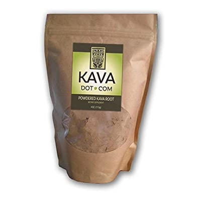 KavaDotCom Powdered Vanuatu Noble Kava Kava Root Extract | Kava Root Powder Supplement for Sleep Support, Relaxation, Stress and Anxiety Relief | Natural Kava Kava Root Drink
