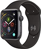 Apple Watch Series 4-44mm Space Gray Aluminum Case with Black Sport Band, GPS + Cellular, watchOS 5