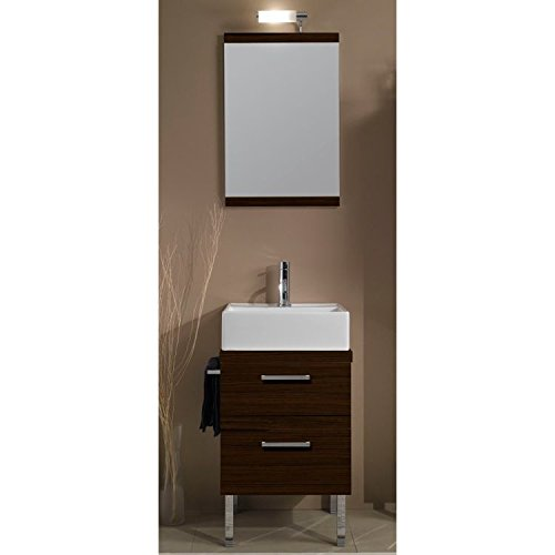 Iotti Iotti A12-Wenge-637509891015 Aurora Collection Bathroom Vanity, Wenge - Iotti Aurora Collection