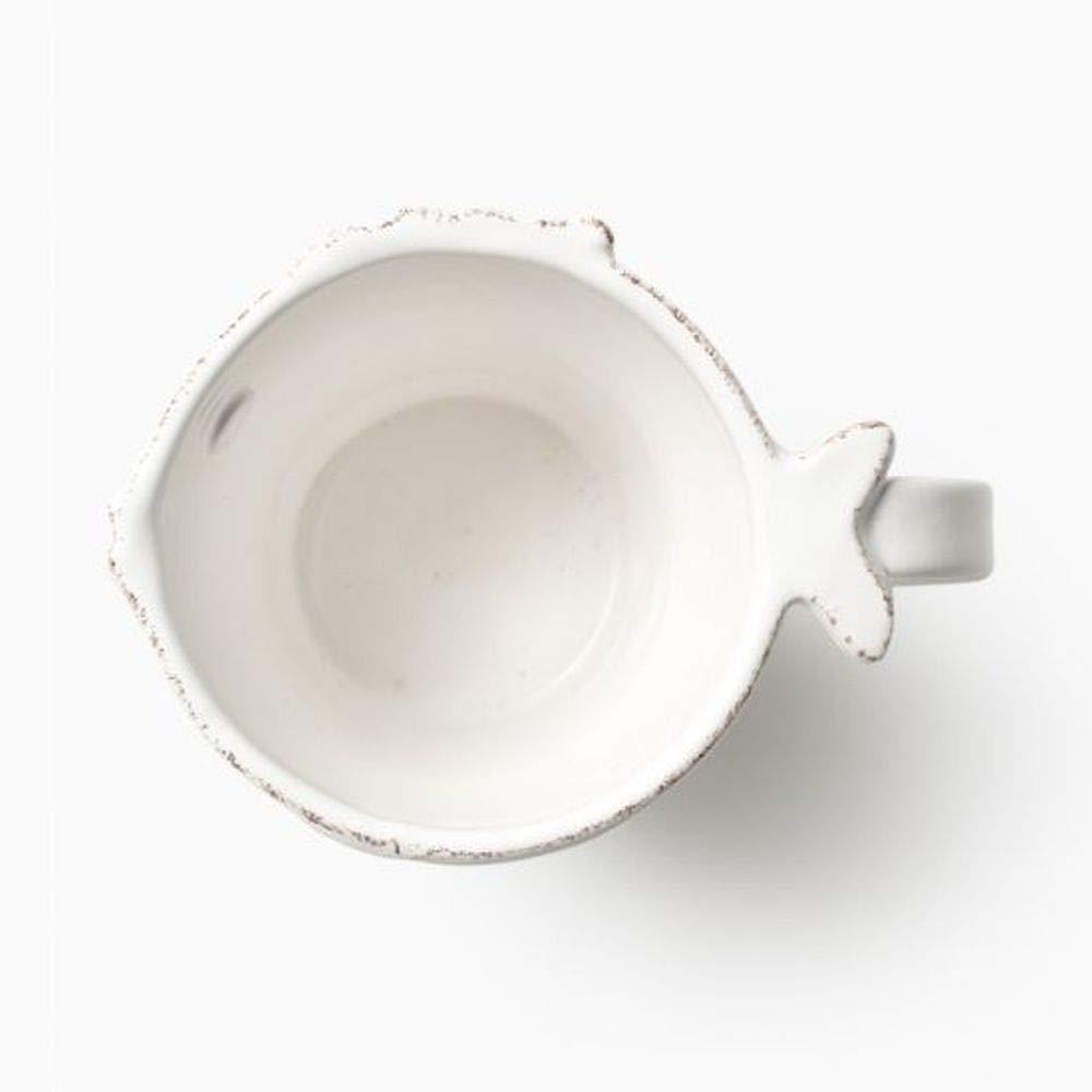 Vietri Lastra Fish Mug White