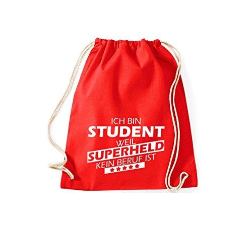 Gimnasio Trabajo Superheld Ist Sin Weil Bolsa Shirtstown Rojo Estudiante De Estoy UY8nqpxEaw