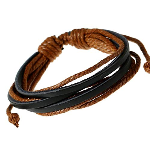 Bracelets For Men QUNANEN Men Retro Simple Fashion Handmade Hemp Rope Woven Fashion Bracelet Jewelry Bracelet Wristband for Hip Hop - Pearl Antique Sandstone Pearl