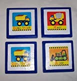 : Set of 4 Baby Tonka Trucks Wall Hangings Plaques DUMP