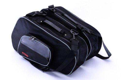 Pair Bestem LGHD-Glide-SDL-R Hard Saddlebag Side Case Liner with Red Piping