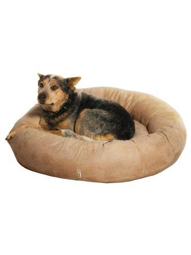 Kakadu Pet mullido Donut cojín cama para perro grande, 31 – 1/2-