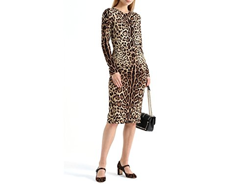 Medium amp; Heels Gabbana Brown HAALM Dolce AI533 Number Leopard Janes In Mary CD0882 Model Pony Leather Hq6ndxEw