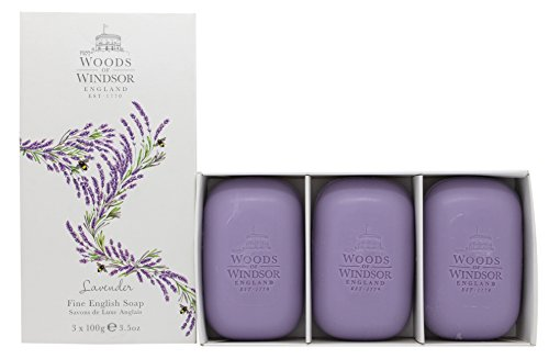 Woods of Windsor Lavender Fine English Soap (Box of 3) 3.5ozea - Soap Woods Lavender