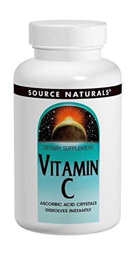 Source Naturals Vitamin C Ascorbate Acid Crystals Powerful Antioxidant - High Quality, Pure Form Supplement - 16 oz ()