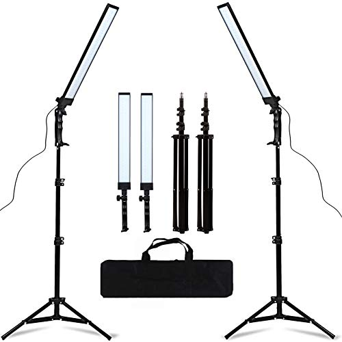 GSKAIWEN 180 LED Light Photography Studio LED Lighting Kit Adjustable Light with Light Stand Tripod Photographic Video…