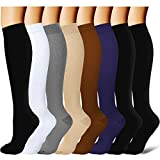 Laite Hebe brand women and men compression socks(8 Pairs),S / M,Assorted1