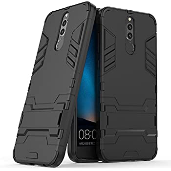 SCIMIN Huawei Mate 10 Lite Case, Huawei Mate 10 Lite Hybrid Case, Dual Layer Shockproof Hybrid Rugged Case Hard Shell Cover with Kickstand for 5.9 ...