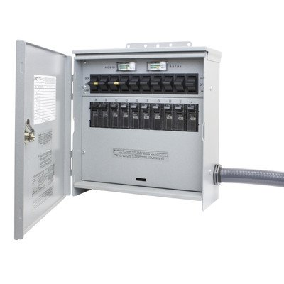 (R310A Pro/Tran2 Outdoor 30-Amp 10-Circuit 2 Manual Transfer Switch with L14-30 Power Inlet)