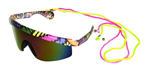 730f8921f2 80 s Vintage Neon Splattered Wrap Sunglasses - Buy Online in Kuwait ...