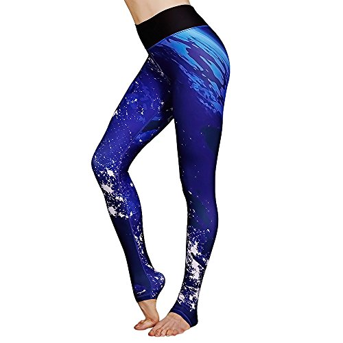 Flexible Stretch Capri Pants (FavoBodinn Performance Activewear - Printed Yoga Leggings Pants & Capris Exercise Fitted Stretch Tights Sport Flexible For Girls Youth High Waisted Pants For Women (Small, Earth))