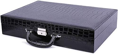 Scatola per Orologi Contenitore per Orologio - 24 Slot per Orologi Contenitore per Gioielli Contenitore per Orologi Cassa per Bracciale in Ecopelle Nera