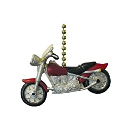 Motorcycle Cycle Hog Ceiling Fan Light Pull Chain