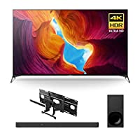 Sony XBR-65X950H 65 Inch TV: 4K Ultra HD Smart LED TV with HDR and Alexa Compatibility (2020 Model) HT-G700 Dolby Atmos Soundbar/subwoofer, SUWL855 Wall Mount Bracket Bundle (3 Items)