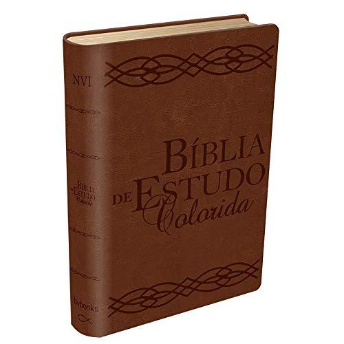 Bíblia de Estudo - Colorida Marrom