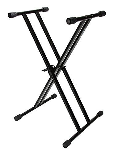 Strukture Double Brace Econo Keyboard Stand, Gloss Black by Strukture