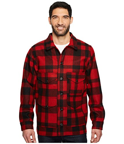 Filson Men's Mackinaw Crusier Red/Black - Cruiser Jacket Mackinaw Wool