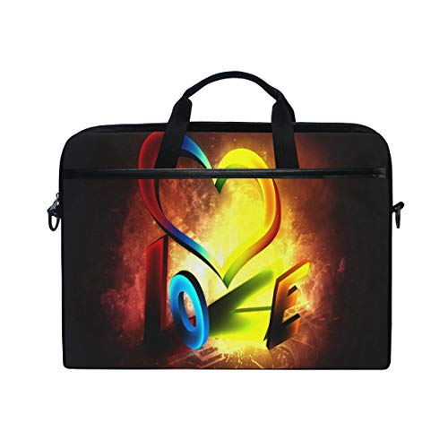 Painted Valentine's Day Wallpaper 14 15 inch Laptop Case Laptop Shoulder Bag Notebook Sleeve Handbag Computer Tablet Briefcase Carrying Case Cover with Handle for Men Women Travel/Business/School