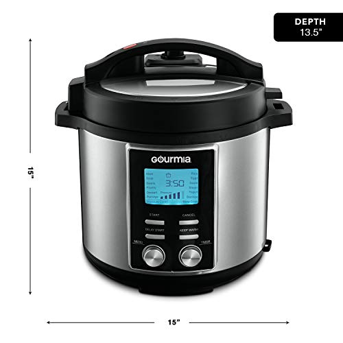 Gourmia GPC855 8 Qt Digital SmartPot Multi-Function Pressure Cooker | 15 Cook Modes | Removable Nonstick Pot | 24-Hour Delay Timer | Automatic Keep Warm | LCD Display | Pressure Sensor Lid Lock by Gourmia (Image #5)