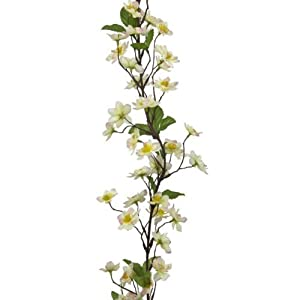 FloristryWarehouse Artificial Silk Apple Blossom Garland Pink Cream 71 inches 105