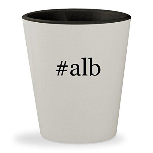 #alb - Hashtag White Outer & Black Inner Ceramic 1.5oz Shot Glass