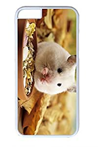 iPhone 6 Plus Case, Personalized Protective Hard PC White Case Cover for Apple iPhone 6 Plus(5.5 inch)- Eating Mice
