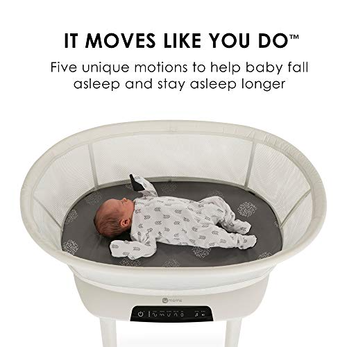 41LKjVZgufL - 4moms MamaRoo Sleep Bassinet | Bluetooth Baby Bassinets And Furniture With 5 Unique Motions | 4 Built-in White Noise Options | Birch