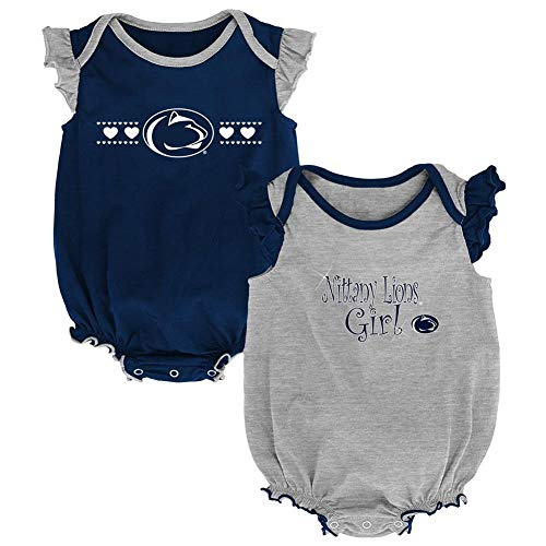 Outerstuff Penn State University Creeper 2 Pack Homecoming Bodysuit Set (6-9 M)