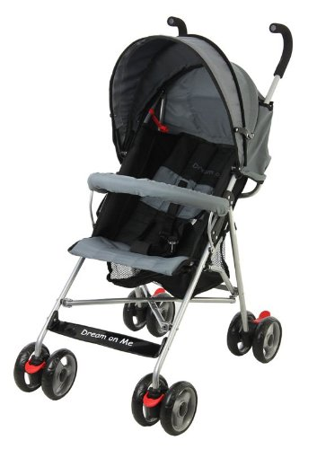 Dream On Me Single Stroller with large Canopy Black  sc 1 st  Amazon.com & Amazon.com : Dream On Me Single Stroller with large Canopy Black ...