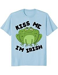 St. Patricks Day Funny 'Kiss Me I'm Irish' - frog shirt +