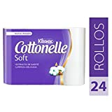 Kleenex Cottonelle Soft, Papel Higiénico, color Blanco, 24 Rollos