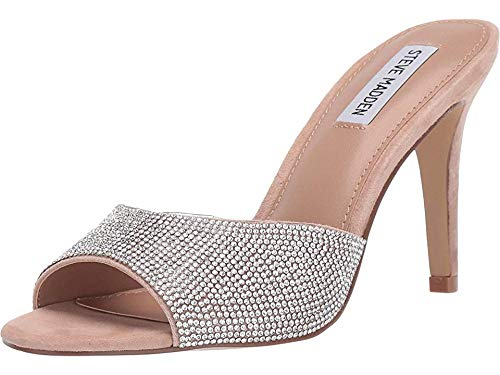 Steve Madden Women's Erin Heeled Sandal Rhinestone 8 M US ()
